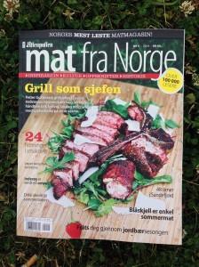 Grillsjefen prydet forsiden av magasinet Mat fra Norge.